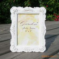 """7""""田园风格情侣白色婚纱欧式相框相架浮雕玫瑰像框像架时尚礼品"""