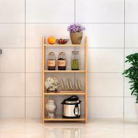 厨房置物架落地式用品多层微波炉收纳架调味料蔬菜锅架转角架实木