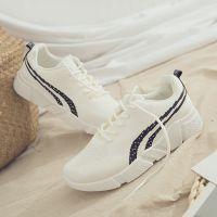 2018秋季新款女鞋爆款飞织运动鞋女学生时尚休闲跑步鞋韩版小白鞋