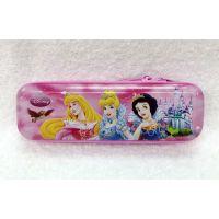 新款白雪公主灰姑娘儿童卡通马口铁笔盒眼镜盒文具盒收纳盒8311