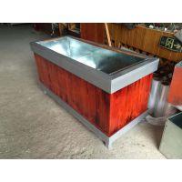 供应HUX025实木花箱防腐木组合花槽