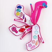 儿童仿真化妆品彩妆玩具套装女孩饰品过家家18013高跟鞋化妆盒