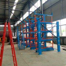 上海钢管货架生产厂 伸缩式悬臂货架优点 放管材方法