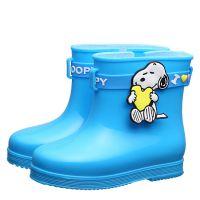 史努比儿童雨鞋 卡通防滑童雨靴 2018E款正品小童雨鞋一件代发