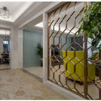 佛山厂家定制玄关 客厅 酒店 移动折叠不锈钢屏风隔断装饰