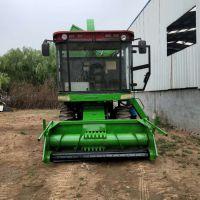 液压旋转料口玉米秸秆黄储机 自走式大型秸秆牧草收割机 流程介绍