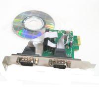 PCI-E串口卡9针卡RS232转接卡PCIECOM口扩展卡WCH382L