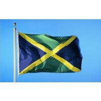现货90*150cm 牙买加 国旗 4号涤纶色丁旗帜