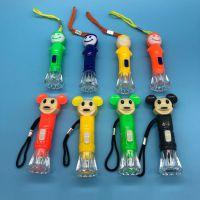 卡通水晶电筒  可爱卡通造型 可换电子 畅销爆款一元地摊货源赠品