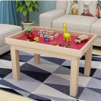 创意益智儿童实木沙盘桌 积木玩具桌玩沙桌太空游戏桌