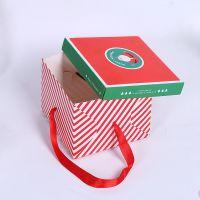高档礼物糖果盒纸盒批发手拎式圣诞苹果盒回礼手提袋喜糖西饼盒
