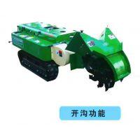 小型履带开沟机视频 普航低矮型柴油履带施肥机 甘蔗地自走式回填机批发