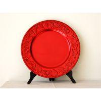 葡萄珠边盘塑料餐具餐盘餐垫圆形创意西式赣州吉奥厂家一手货源YF-60913
