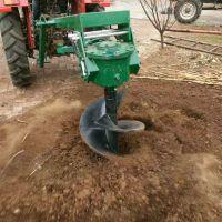 厂家直销拖拉机挖坑机 种树专用打孔机 新款强压植树挖坑机