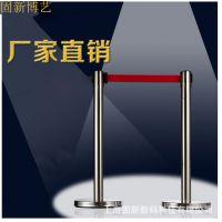 1米线伸缩栏杆 一米活动围栏 不锈钢伸缩栏杆座 农行电网栏杆座