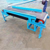 波状挡边爬坡输送机定制 小麦输送机