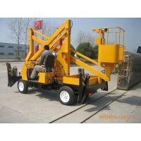 供应两用13米液压升降平台 柴油机电机双用升降机