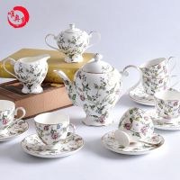 唐山唯奥陶瓷工厂直销15头骨质瓷咖啡杯碟套装 红茶陶瓷咖啡具欧式下午茶茶具套装