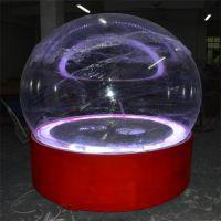 工厂整套出售圣诞节装饰球 亚克力圣诞球 LED圣诞保护球罩
