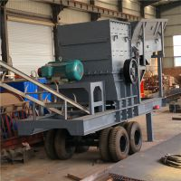 轮胎式移动碎石机 山上的山石青石破碎机 一个小时产300吨流动破碎石头机