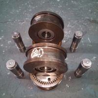 供应电动单梁起重机行车轮LD150 200 300 400行车配件轮组一套
