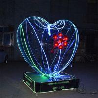 定制节日装饰开业庆典有机玻璃爱心形状带LED灯浪漫婚庆布置