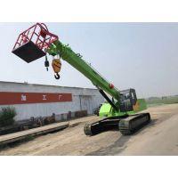 厂家定做履带式起重机 16吨固定吊机加上吊篮多少钱山东济宁三石