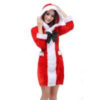 金丝绒圣诞服 圣诞老人服装 圣诞节服饰 成人女服