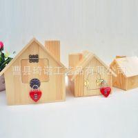木质储蓄罐超大号房子存钱罐大码储钱罐可爱包邮定制礼物可定制