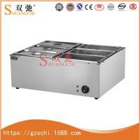 厂家直销双驰不锈钢电热汤池6格汤池炉快餐热销商用厨具