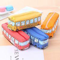 韩国多功能巴士大容量帆布笔袋 创意男女中学生简约铅笔盒文具