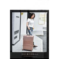 新款ABS+PC玫瑰金 拉杆旅行箱包 厂家批发万向轮行李箱定做可加logo