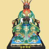 邓州善缘佛像工艺制品厂批发定制2米以上牛神 牛王爷彩绘贴金神像