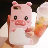可爱立体粉色猪iphone7plus硅胶套苹果x 手机壳全包防摔6sp软壳女