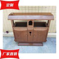 不锈钢仿木纹垃圾桶 户外垃圾箱 分类果壳箱厂家制作