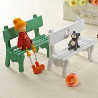 厂家批发 zakka木质工艺品家居装饰摆件摄影道具镂空爱心公园椅