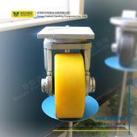 聚氨酯包胶轮360万向轮高精度驱动转向轮重型工业搬运车轮 帕菲特