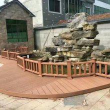 昆明塑木地板木塑户外阳台庭院露台花园室外防水防腐木板材工程家用