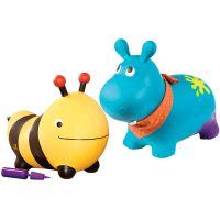 比乐B.toys跳跳河马 弹跳大黄蜂羊角球儿童充气玩具大号弹跳动物