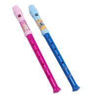 正版迪士尼蓝色米奇粉色公主紫色冰雪系列塑胶儿童玩具7孔竖笛