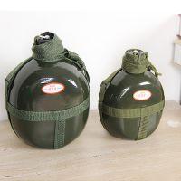 批发1升铝制水壶军绿色礼品65老式军训户外野营容量水壶