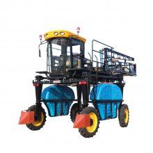 大型高架自走式柴油四轮打药机 多功能施肥自动喷雾四轮打药车