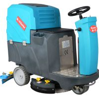 中型洗地机游乐场游泳馆用驾驶式全自动洗地机电瓶式洗地拖地机