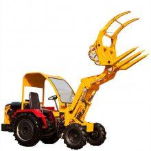 人气畅销小型建筑工地装载机松散物堆放农用四轮车ZL06柴油抓木机