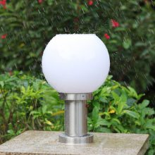 厂家批发太阳能柱头灯路灯 户外灯柱头围墙灯庭院门柱圆球灯LED灯