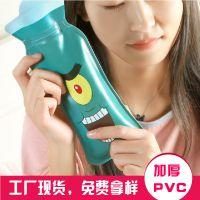 SAFEBET注水式长形热水袋暖宫暖腰暖脚防爆PVC暖手宝卡通暖水袋