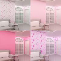 墙贴装饰品宿舍寝室防水粉色墙纸自粘房间温馨少女心卧室布置壁纸