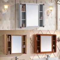 厕所卫生间浴室镜子带置物架柜镜柜镜箱浴室柜挂墙式储物吊柜镜面