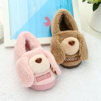 天丽卡通可爱儿童冬季居家包跟棉拖鞋一家三口亲子男女童宝宝棉鞋