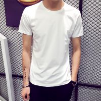 宽松学生爸爸纯色t恤简单创意衣服男人中学生高中生春季夏日短袖